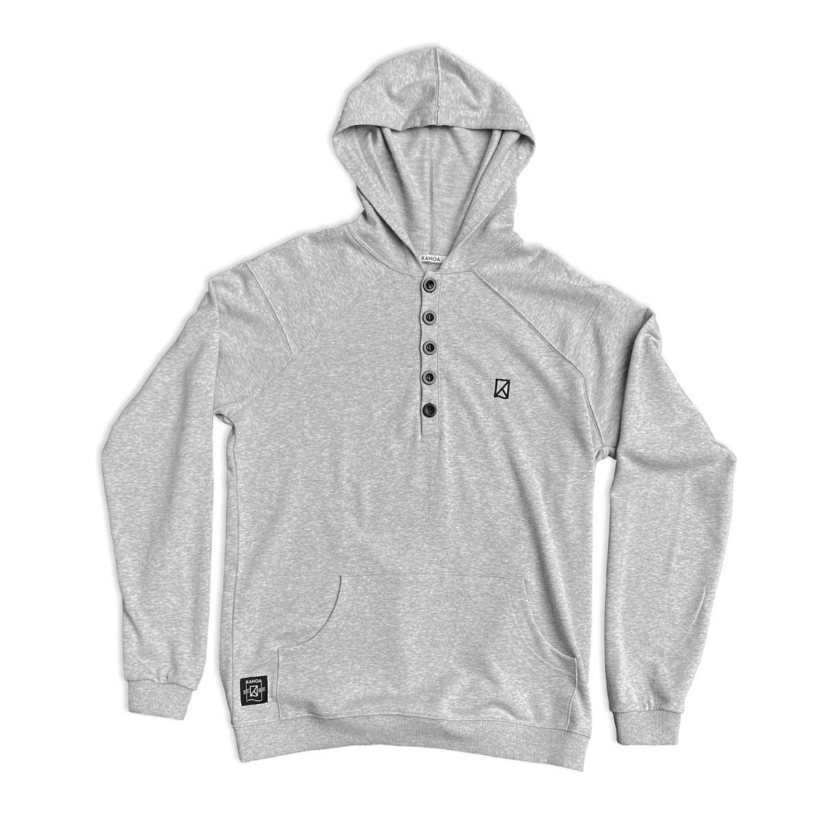 Hooded Pullover with buttons