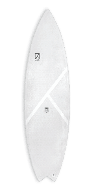 Honey Roots Technology KANOA Surfboards HRT Board COTTON FLOCKS & RECYCLED GLASSFIBER