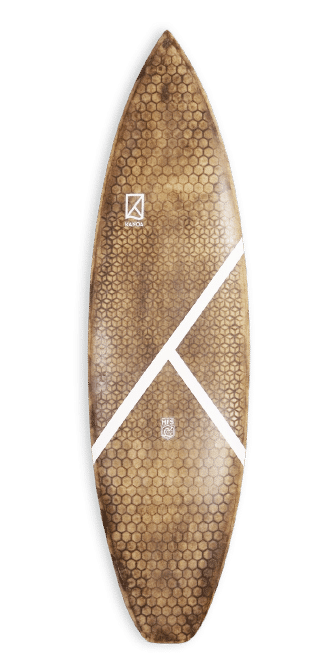 Honey Roots Technology KANOA Surfboards HRT Board UPCYCLED WOOD, CORK & RECYCLED CARBON