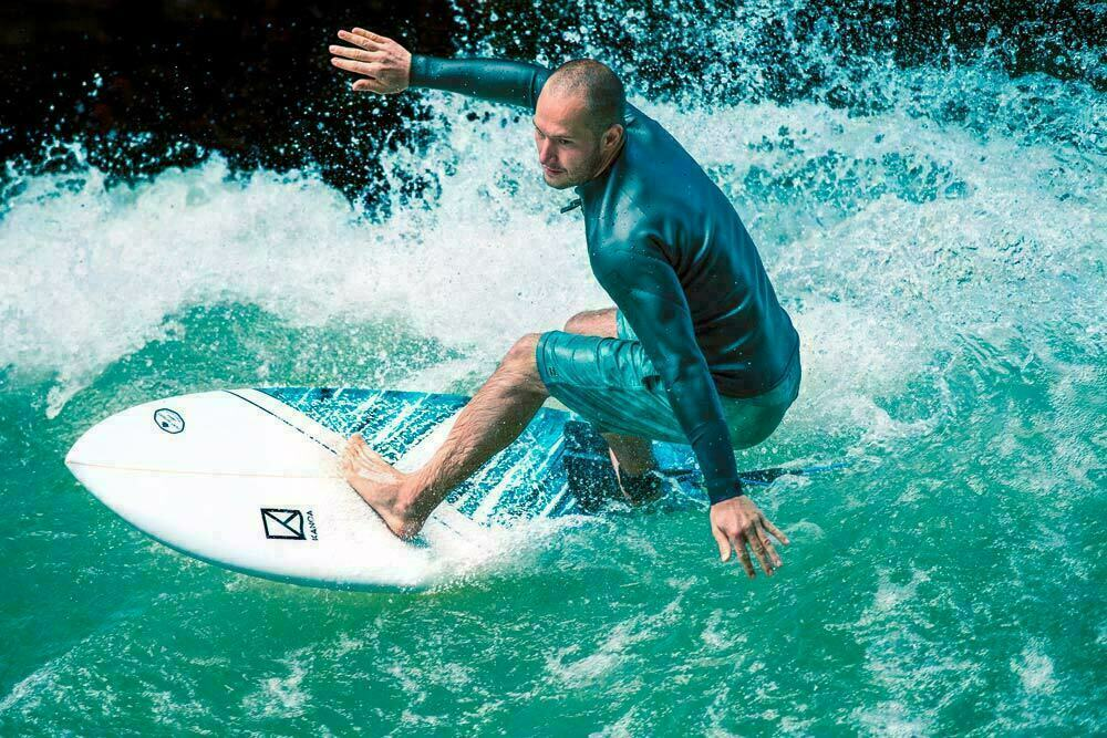 right riverboard less powerful rapid waves